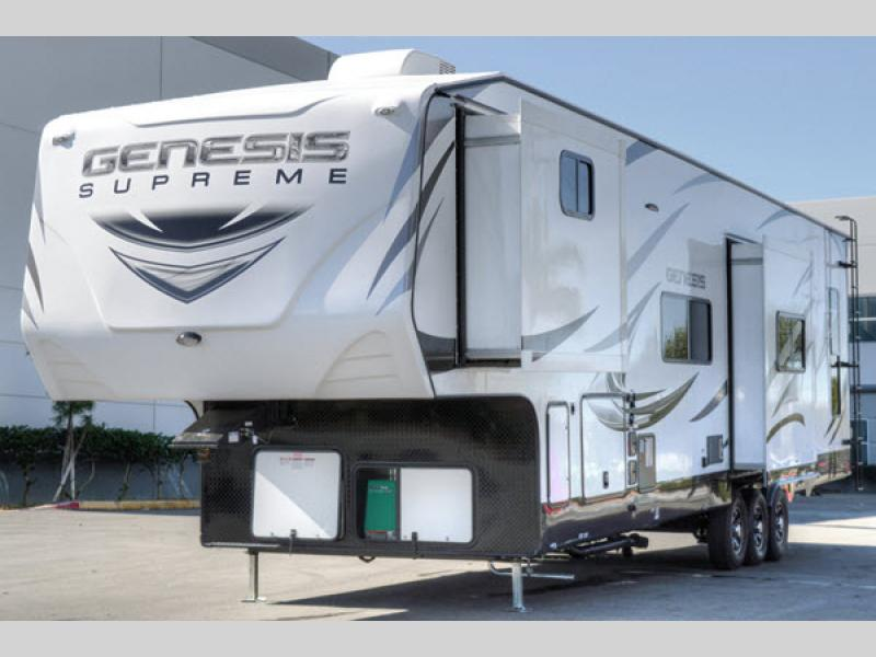 Genesis Supreme Toy Hauler Fifth Wheel