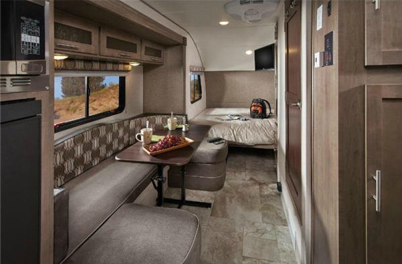 inside of the rpod travel trailer